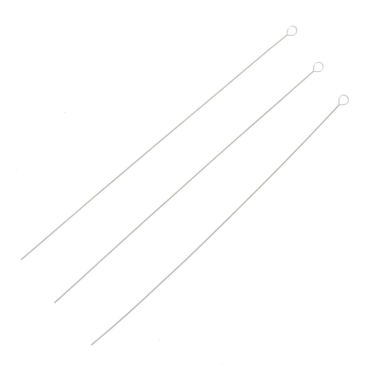 XQ264 Игла для нанизывания скрученная, d 0,22мм, 10шт, Астра