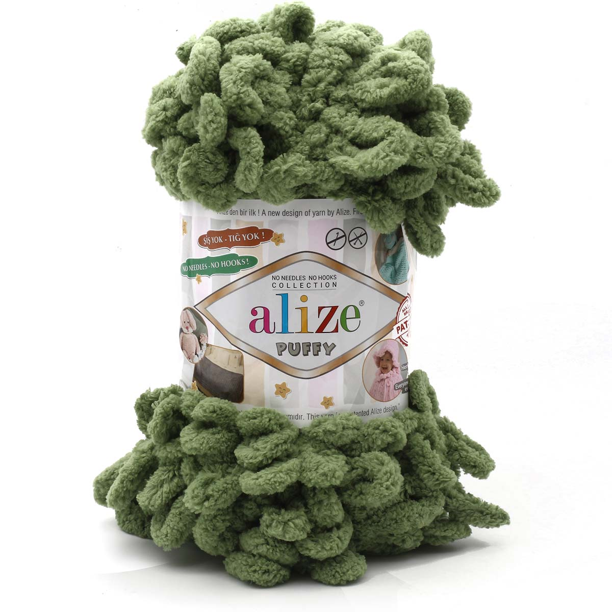 Пряжа Alize 'Puffy' 100г 9,2м (100% микрополиэстер)