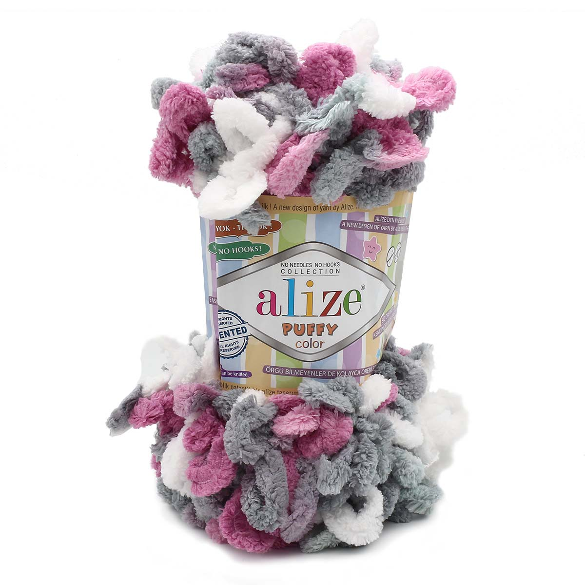 Пряжа Alize 'Puffy Color' 100г 9м (100% микрополиэстер)