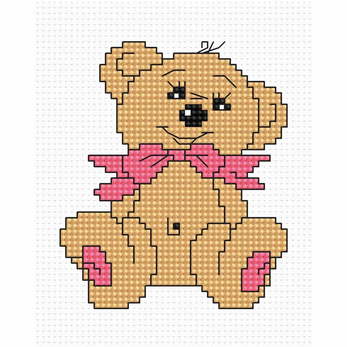B087 Набор для вышивания Luca-S 'Моя первая вышивка. Медвежонок' 7*8,5см