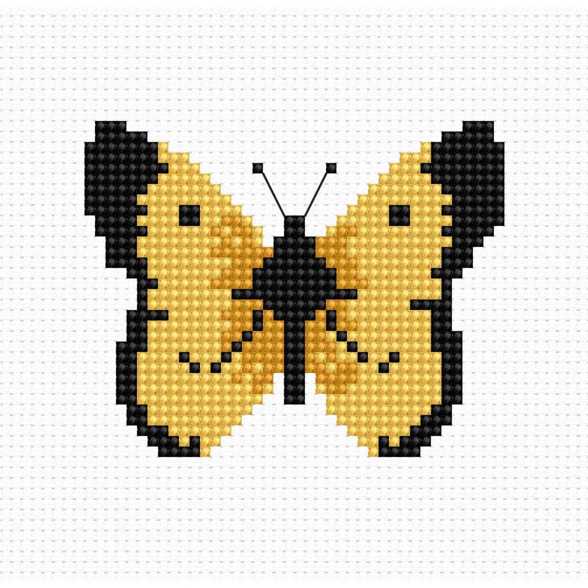 B004 Набор для вышивания Luca-S 'Моя первая вышивка. Бабочка' 7*6см