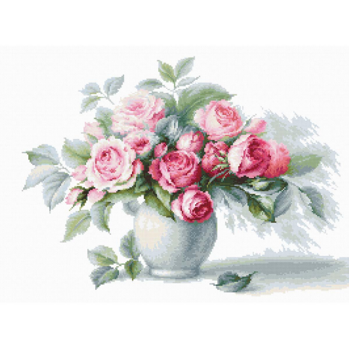B2280 Набор для вышивания 'Этюд с чайными розами' 35,5*26см, Luca-S