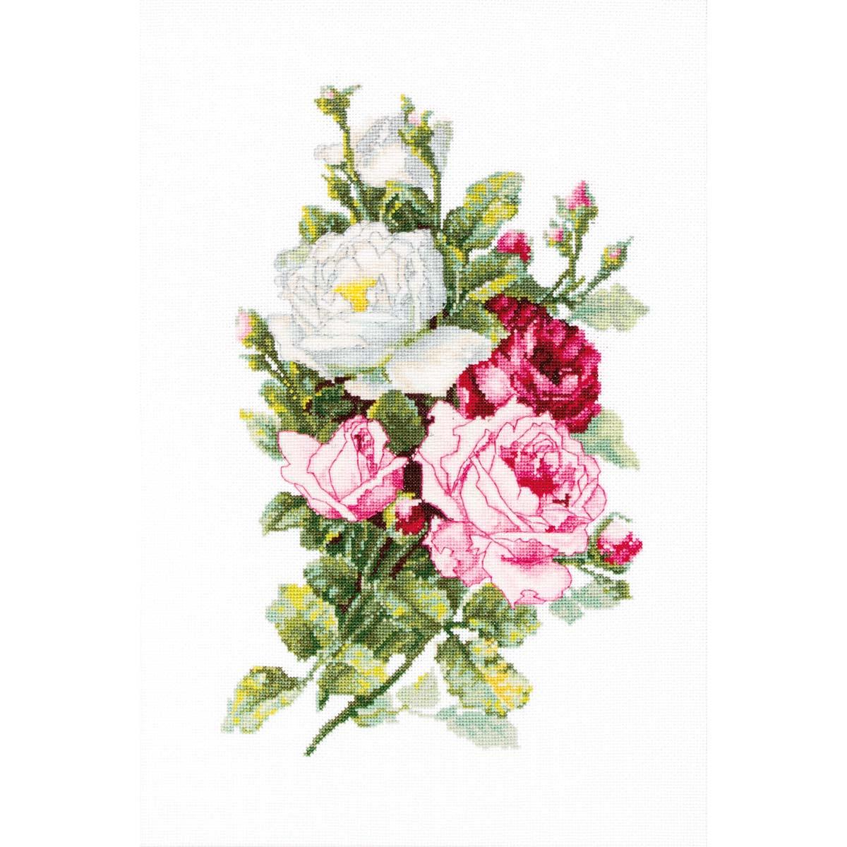 B2285 Набор для вышивания 'Букет из роз' 13,5*21,5см, Luca-S