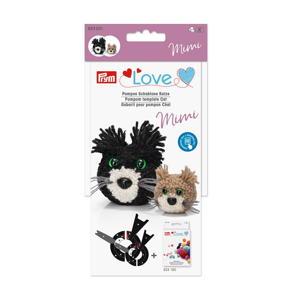 624201 Шаблон для помпона Prym Love Кошка Мими Prym