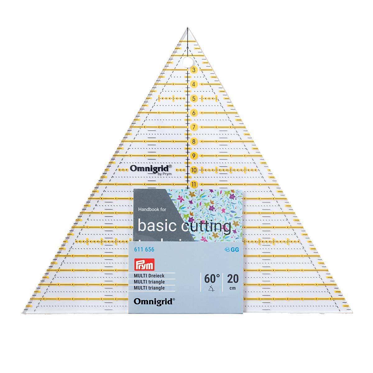 611656 Треугольник 60° Multi 20cм PRYM