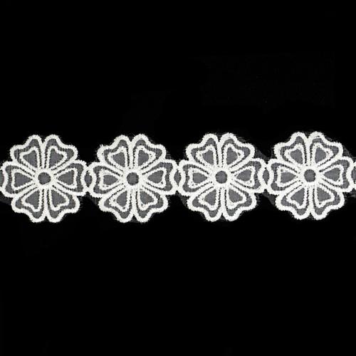 OZ-044 Кружево 'Цветок' капрон 30мм*18,29м