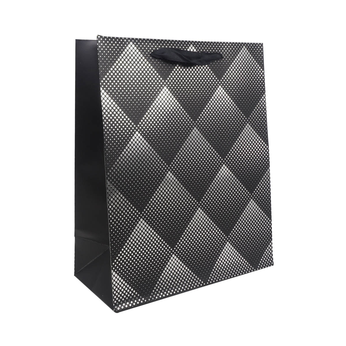 BK958 Пакет подарочный ламинированный, 32*26*12см (A черный)