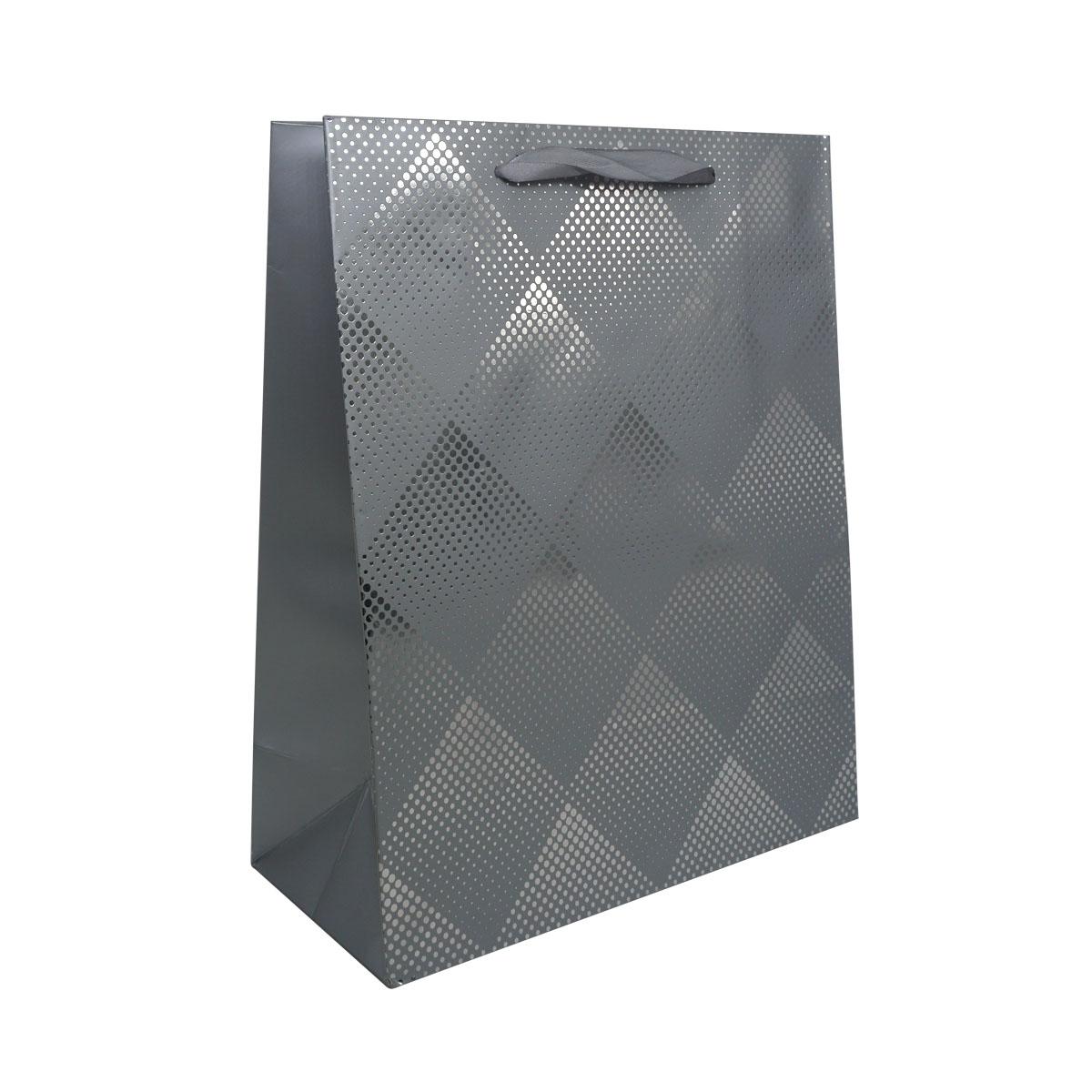 BK958-1 Пакет подарочный ламинированный, 23*18*10см (C-серебро) фото