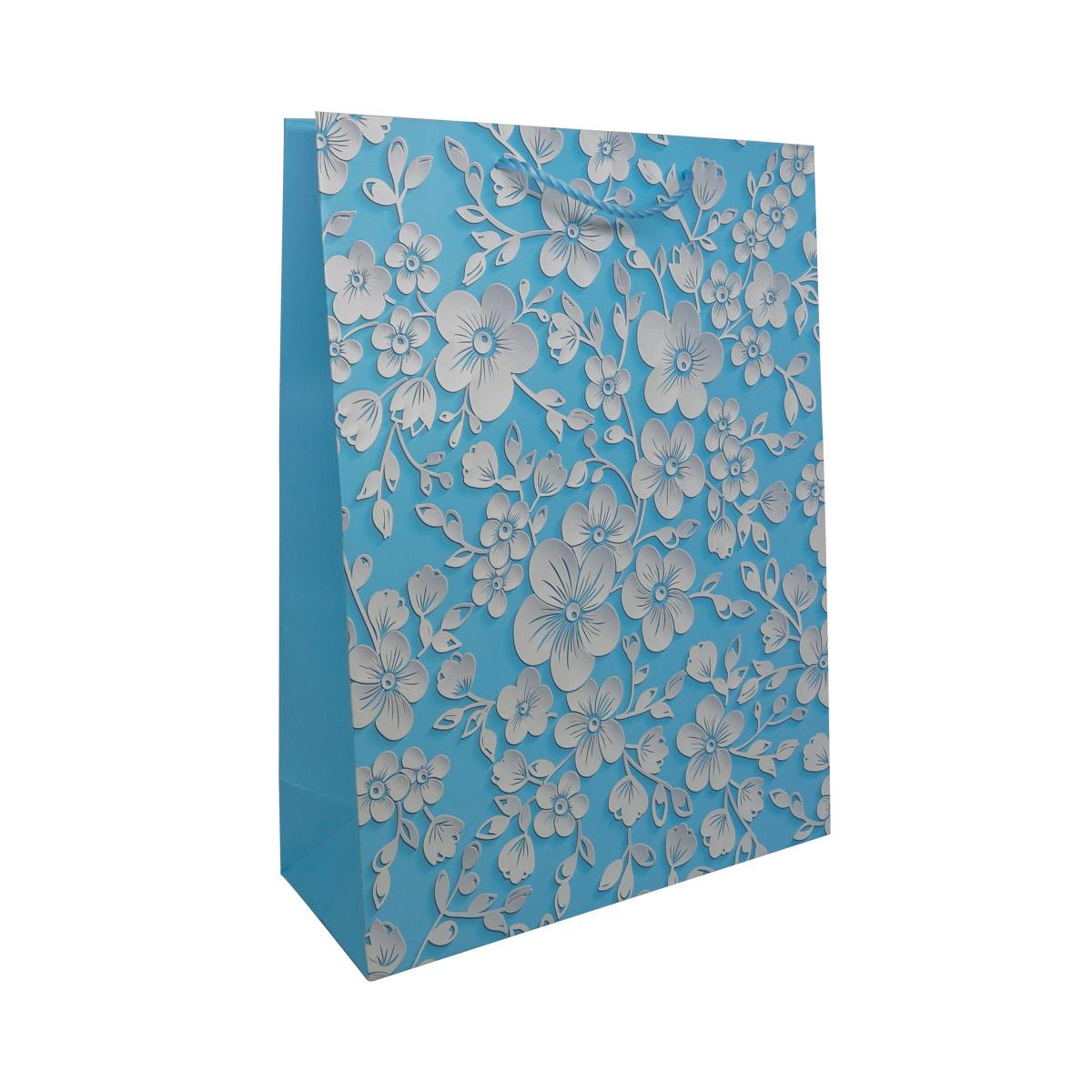 BK961 Пакет подарочный ламинированный 'Цветы', 40*30*12см