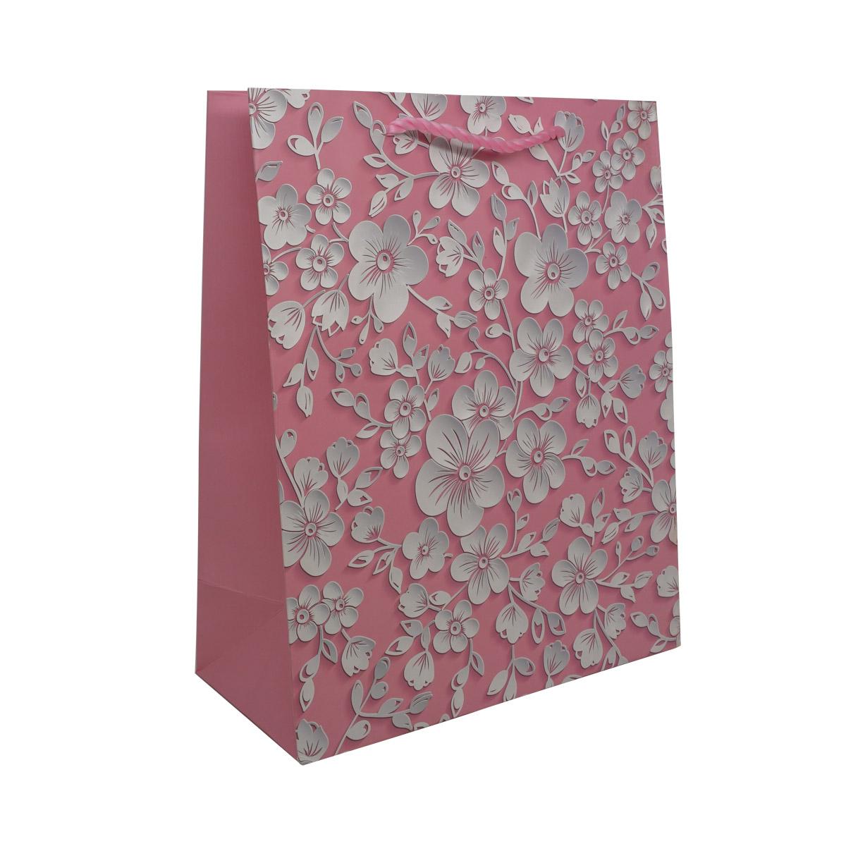 BK961-1 Пакет подарочный ламинированный 'Цветы', 32*26*12см