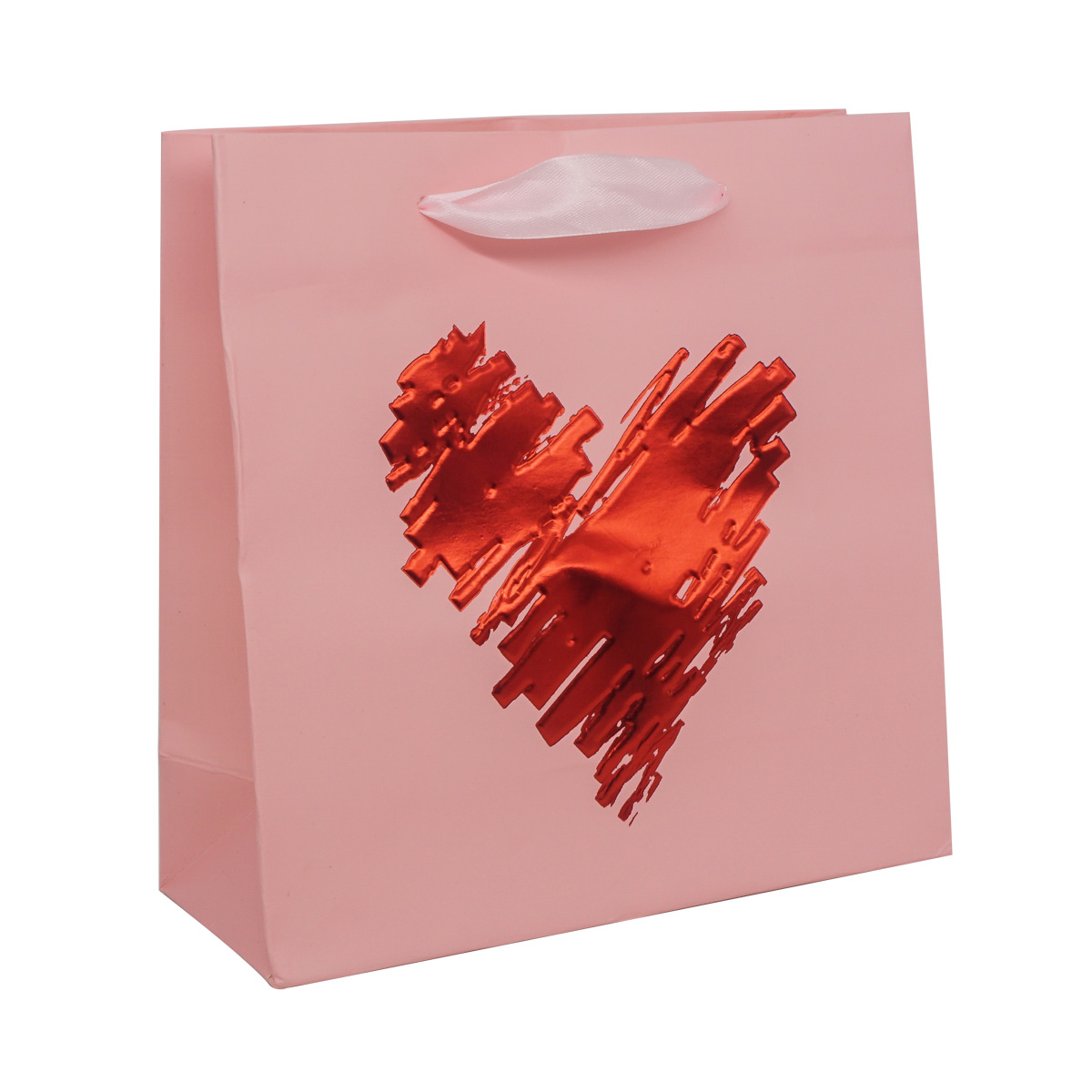 QR031 Пакет подарочный ламинированный 'Сердце', 20*20*8см