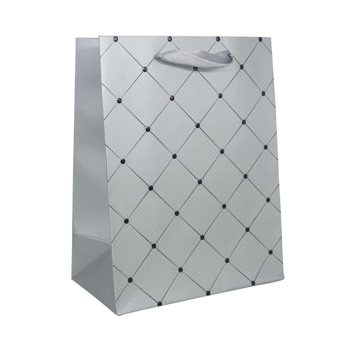 BK981 Пакет подарочный ламинированный, 23*18*10см (D серый)