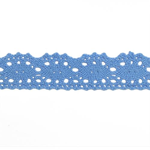 1AS-010 Кружево х/б 2,5см*18,29м, цвет голубой