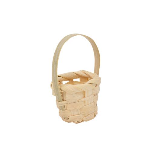 3AS-005 Плетеная мини-корзинка (бамбук), 3*3см