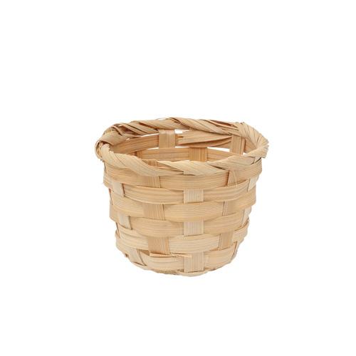 3AS-007 Плетеная мини-корзинка (бамбук), 9*7см