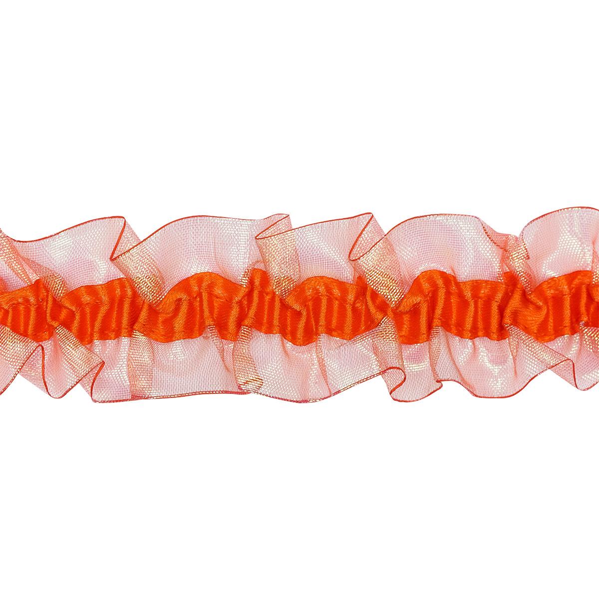 1AS-107 Тесьма-рюш эластичная двухсторонняя 40мм*9,14м