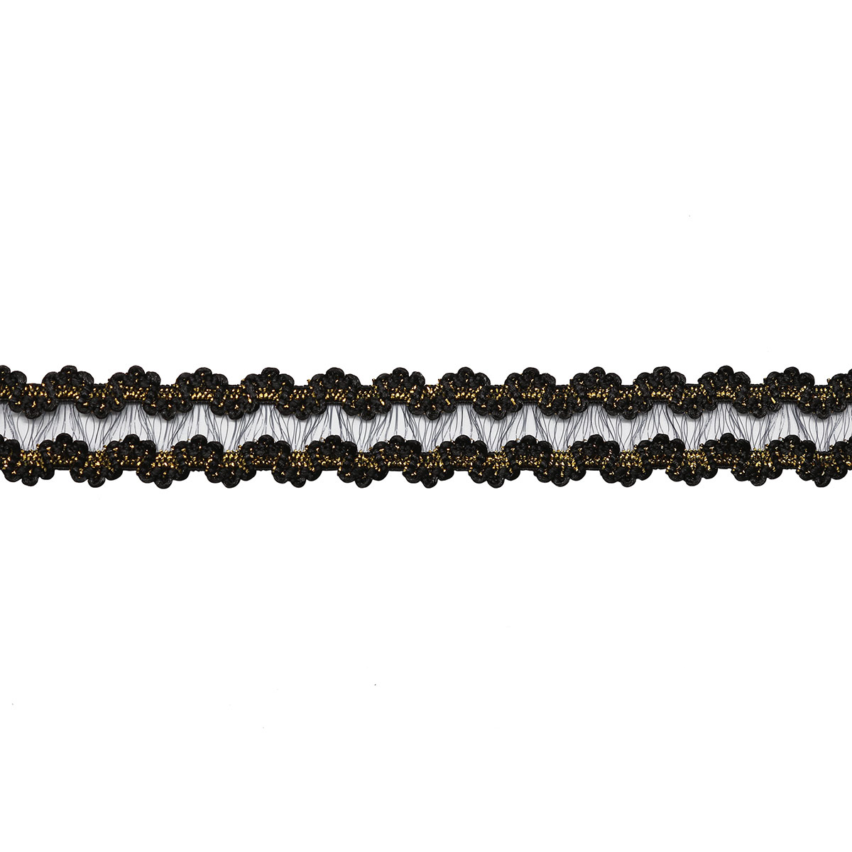 1AS-163 Тесьма-рюш эластичная двухсторонняя 12мм*22,86м