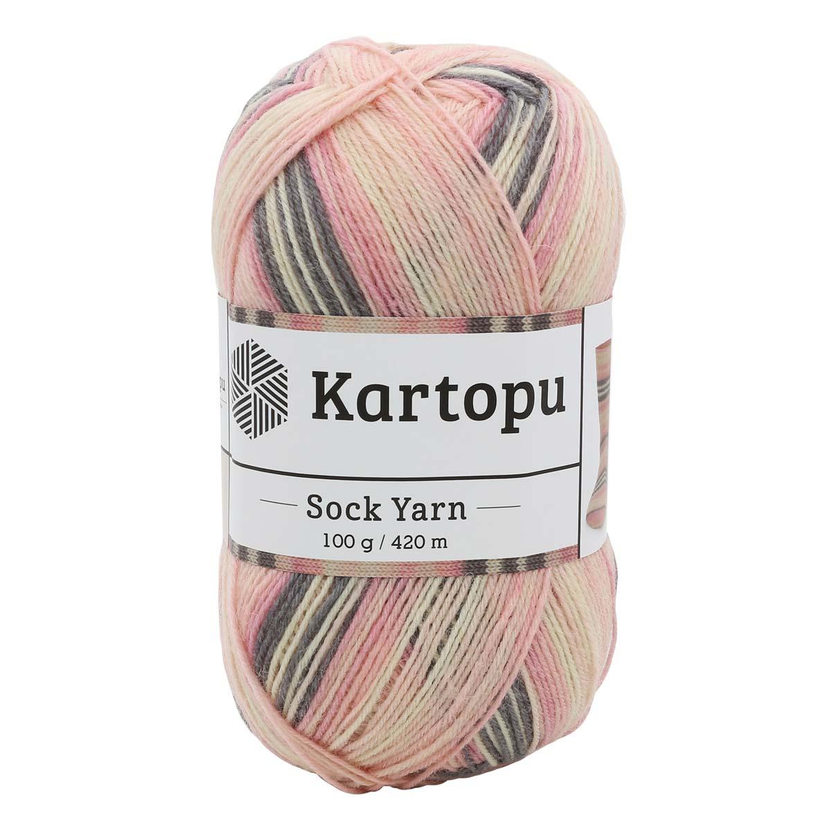 Пряжа носочная KARTOPU 'SOCK YARN' 100г 420м (75% SW шерсть, 25% полиамид)