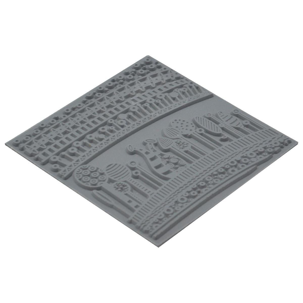 CE95018 Текстура для пластики резиновая 'Гармония', 9х9 см. Cernit