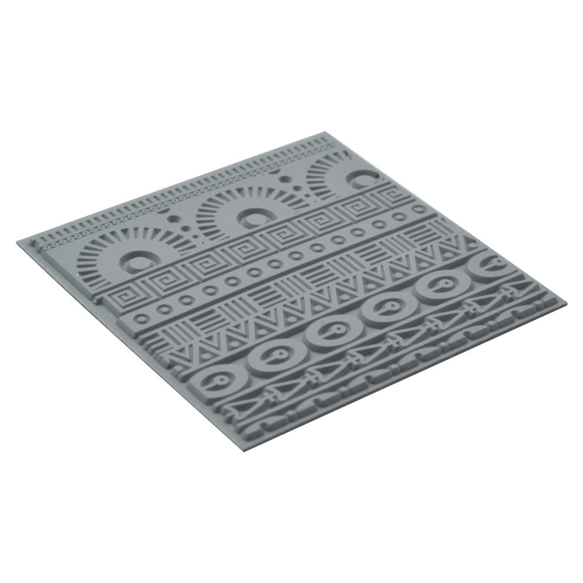 CE95019 Текстура для пластики резиновая 'Геометрия', 9х9 см. Cernit