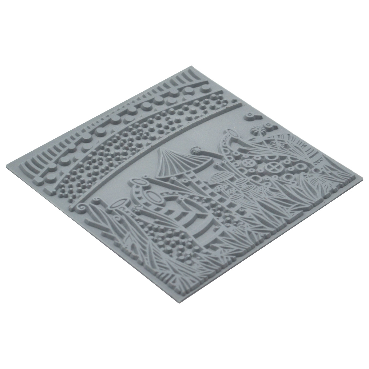 CE95020 Текстура для пластики резиновая 'Природа', 9х9 см. Cernit
