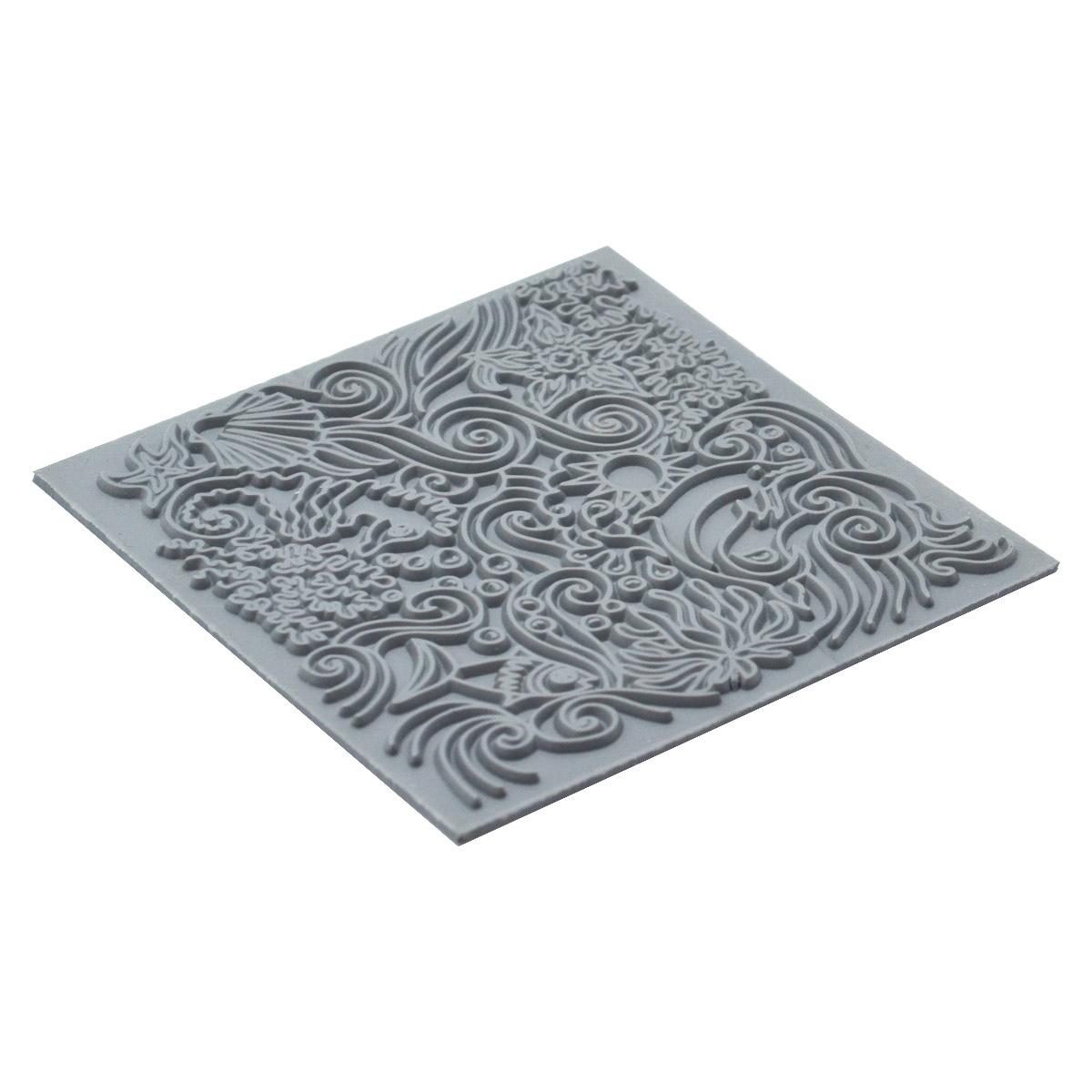 CE95021 Текстура для пластики резиновая 'Под водой', 9х9 см. Cernit