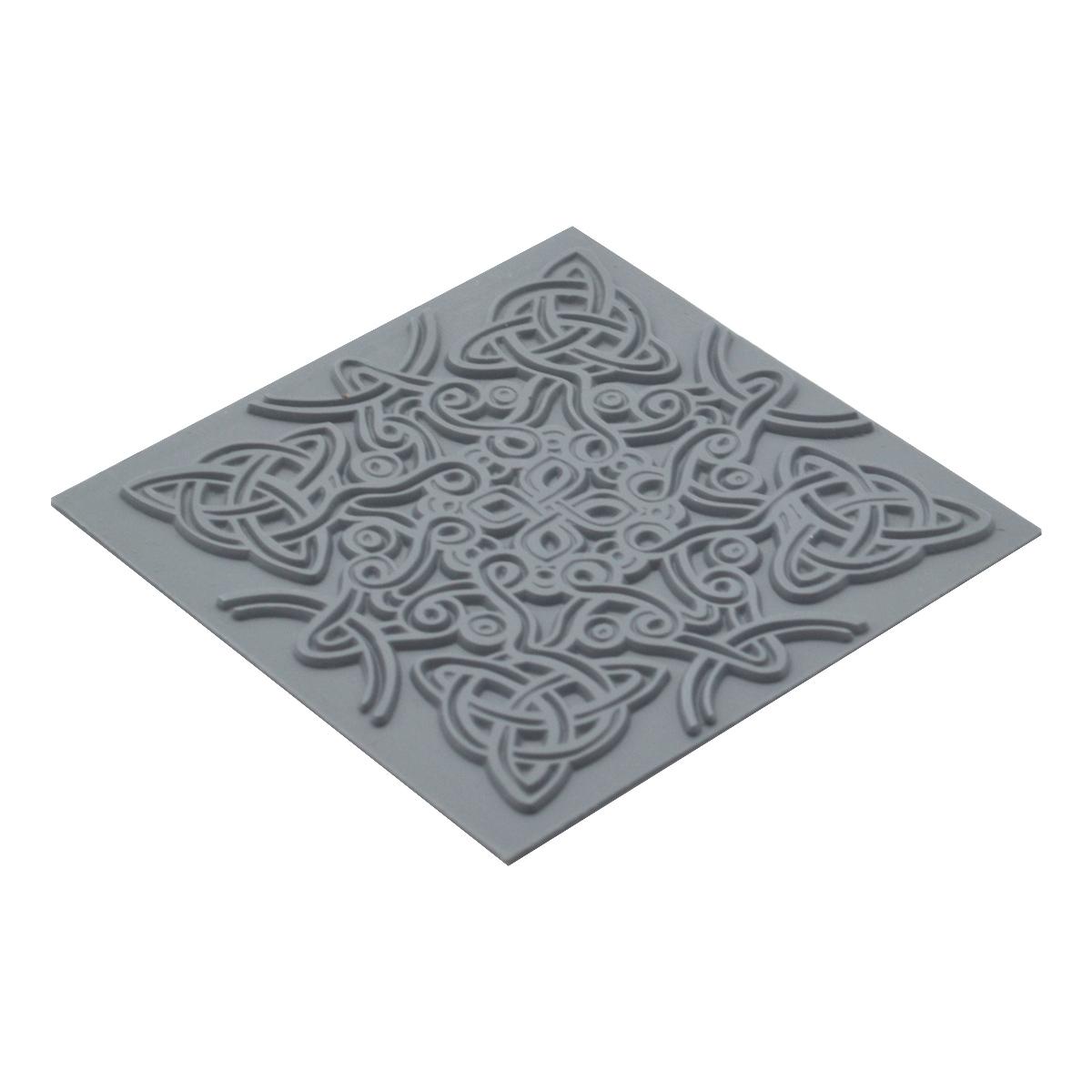 CE95023 Текстура для пластики резиновая 'Кельтский узел', 9х9 см