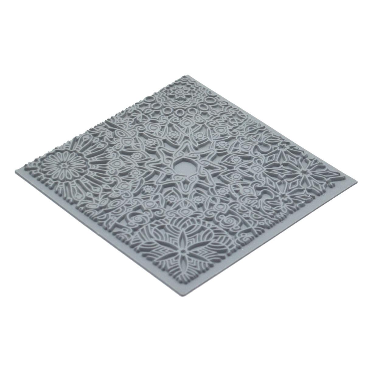 CE95025 Текстура для пластики резиновая 'Мандала', 9х9 см