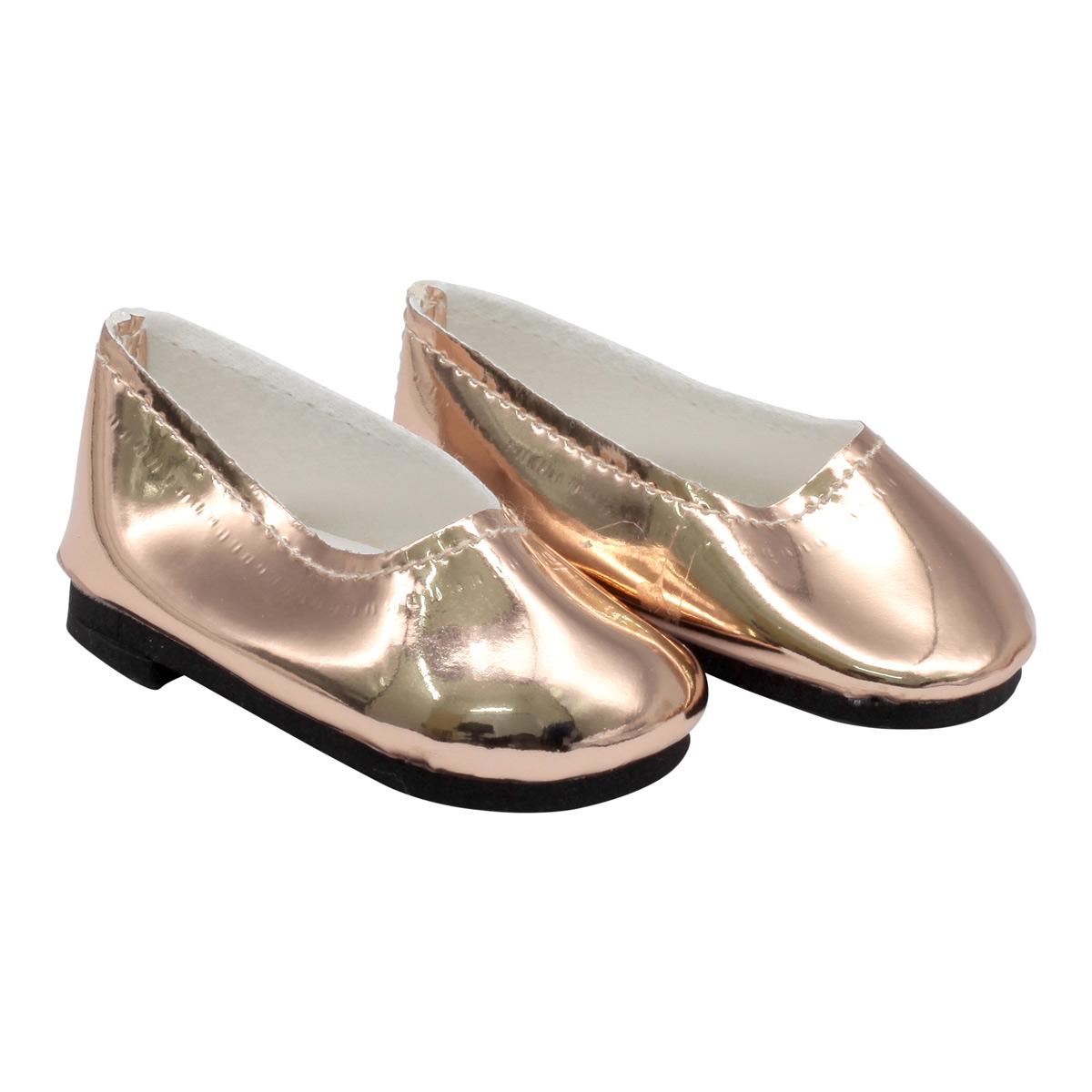 MISU-4 Туфли для куклы 'Металлик', 7см, цв. золотой