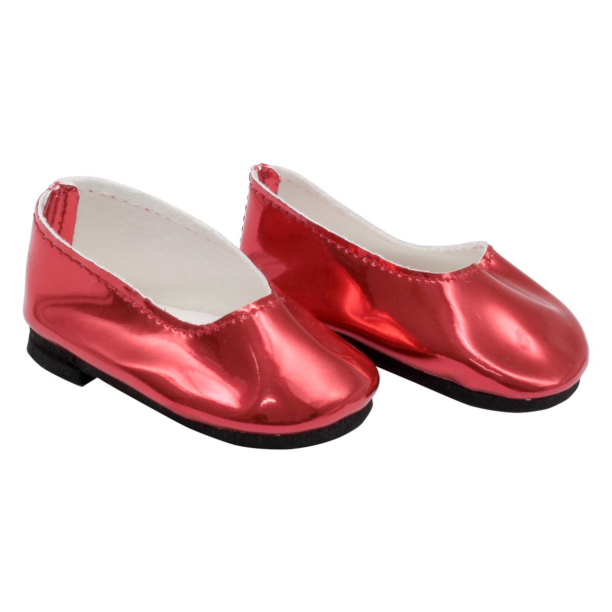 MISU-6 Туфли для куклы 'Металлик', 7см, цв. алый