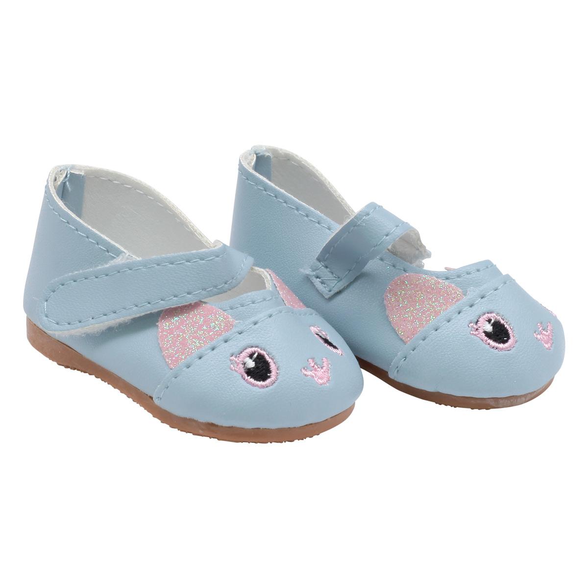 MISU-16 Сандали для куклы 'Котята', 7см, цв. голубой