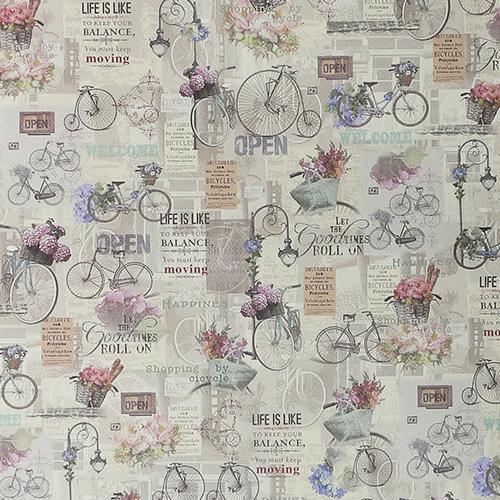 CFREN039 Декупажная бумага 'Велосипед', 70х50см Renkalik
