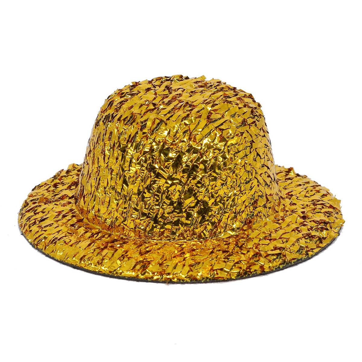 AS07-04, Шляпка для игрушек с блестками, 8см, 2 шт/упак