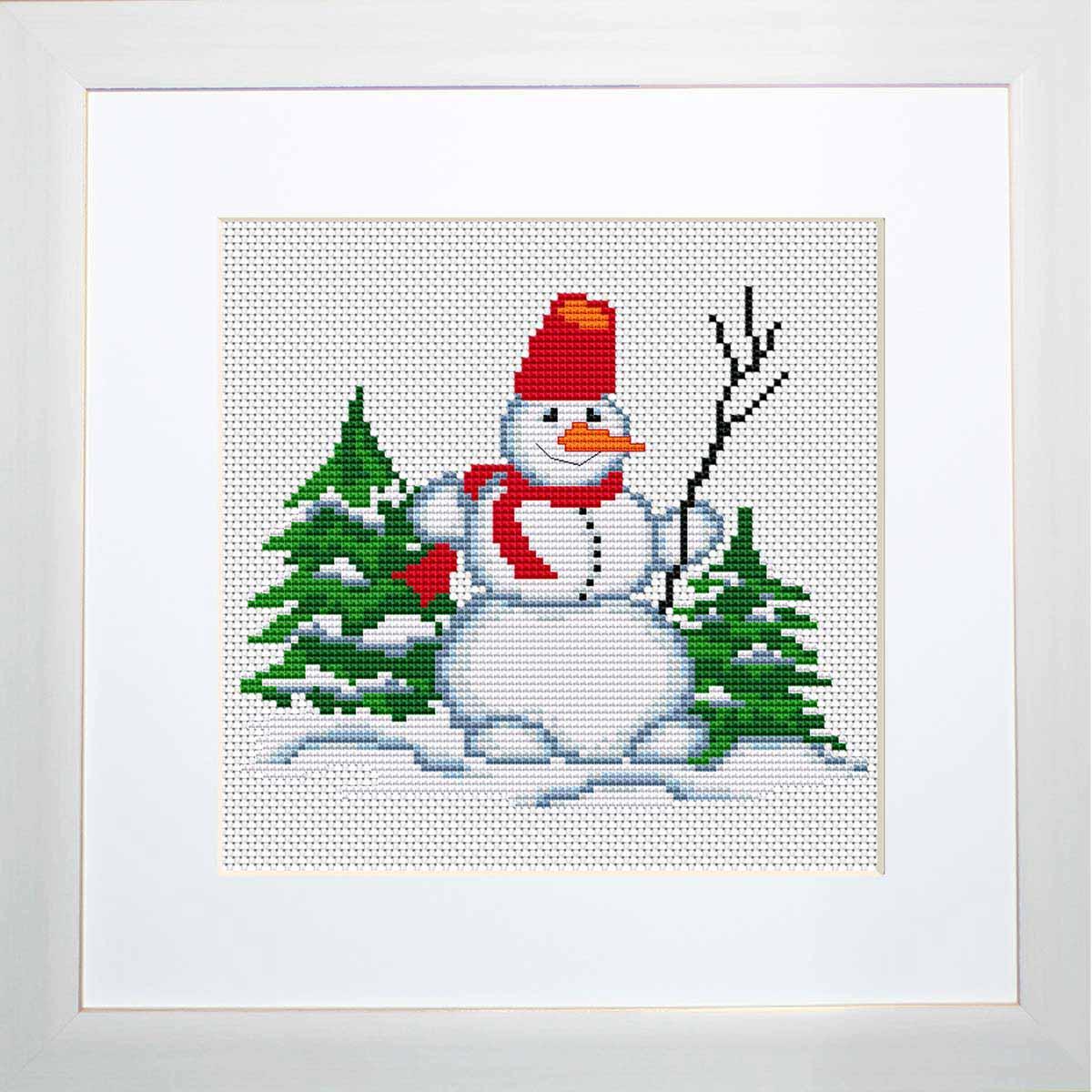 B1069 Набор для вышивания 'Моя первая вышивка. Снеговичёк' , Luca-S