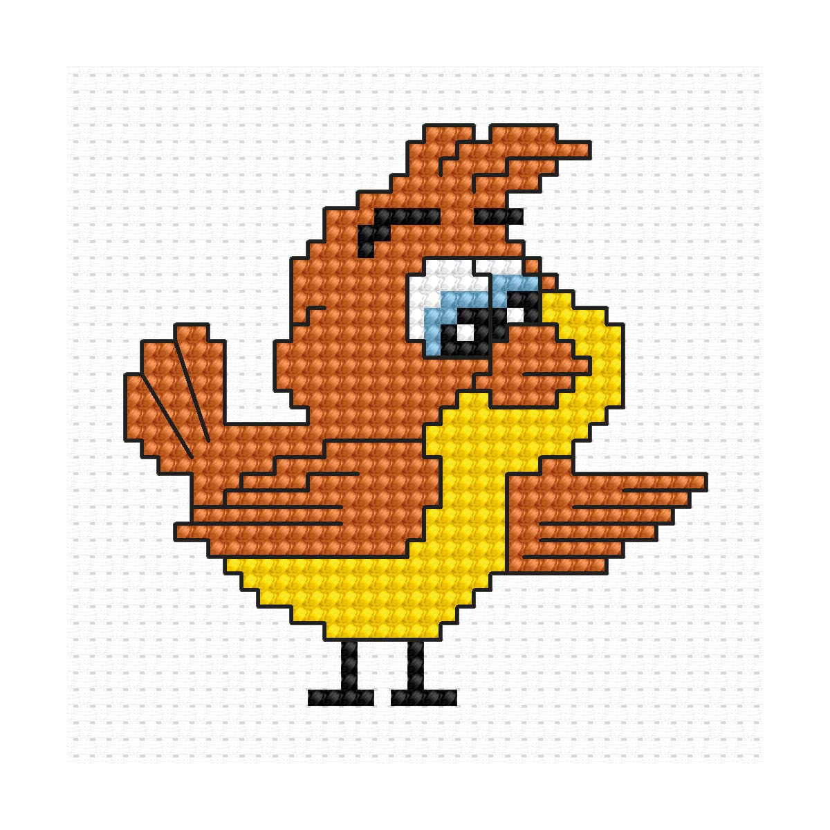 B085 Набор для вышивания Luca-S 'Моя первая вышивка. Птичка' 6,5*6,5 см