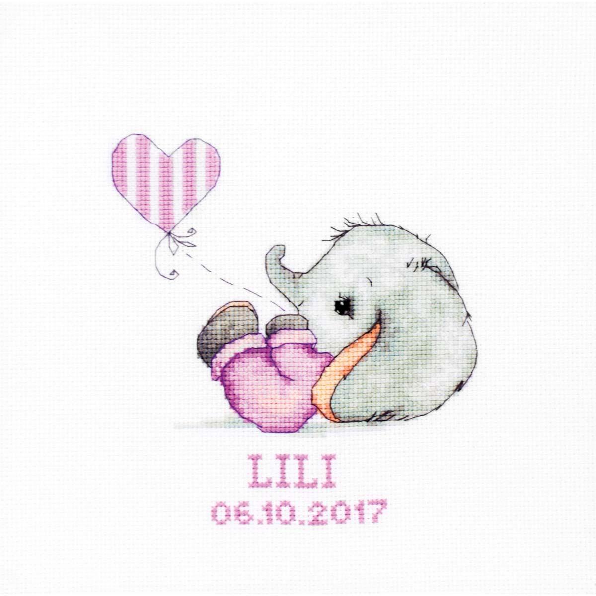 B1133 Набор для вышивания Luca-S 'Baby girl' 14*15,5 см