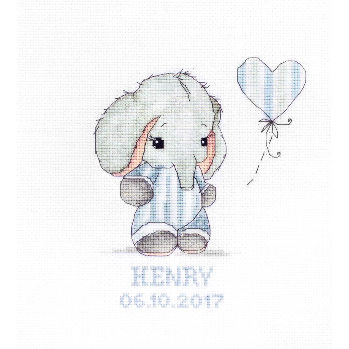 B1134 Набор для вышивания Luca-S 'Baby boy' 14*16,5 см
