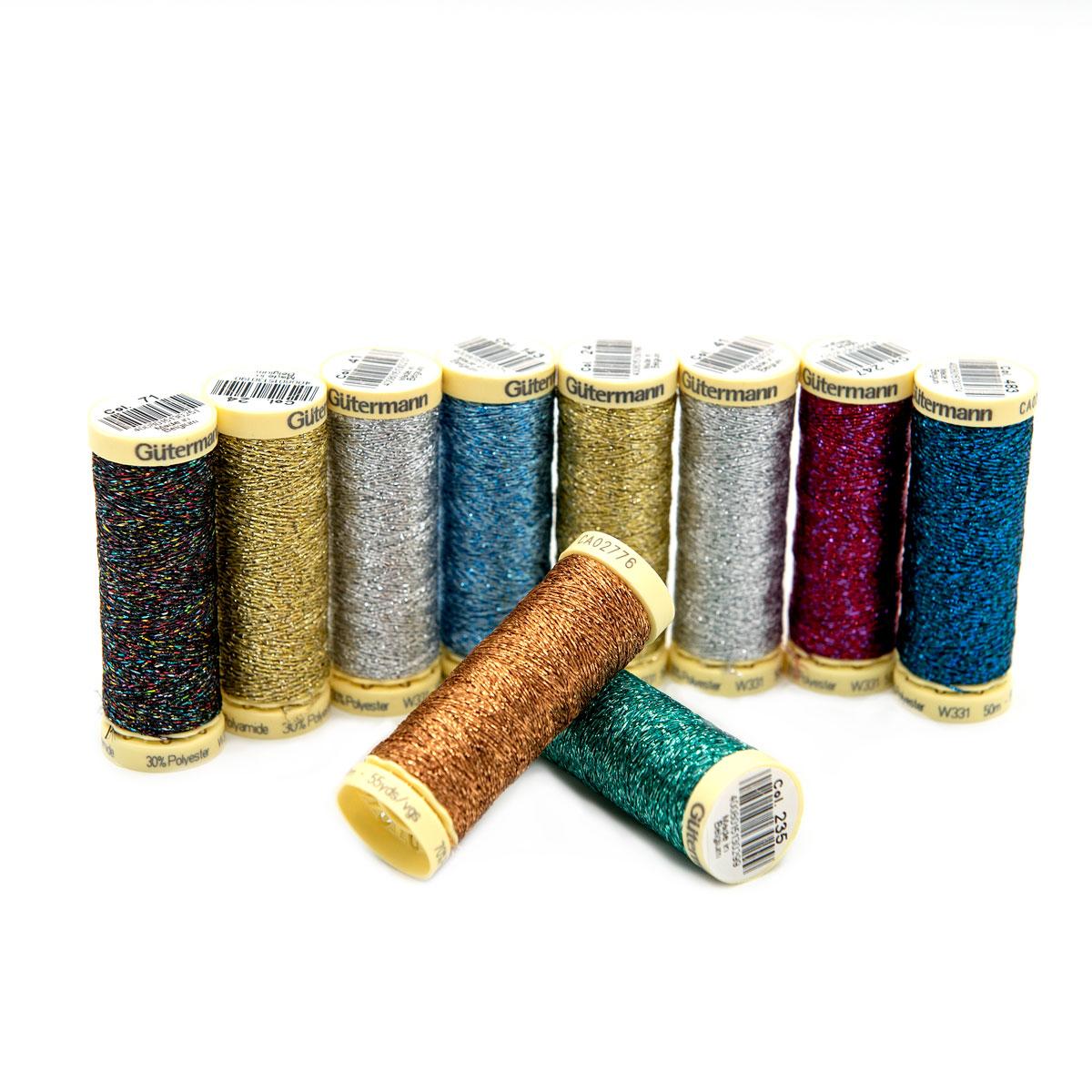 734007 Набор швейных нитей с металлическим эффектом, col. 1