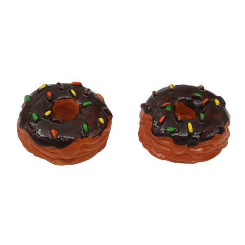 3AS-156 Миниатюра. Шоколадный пончик, 1.6см, 2 шт/упак