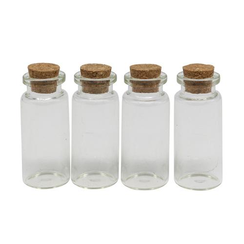 3AS-224 Бутылочка декоративная стеклянная, 22*50мм, 4 шт/упак