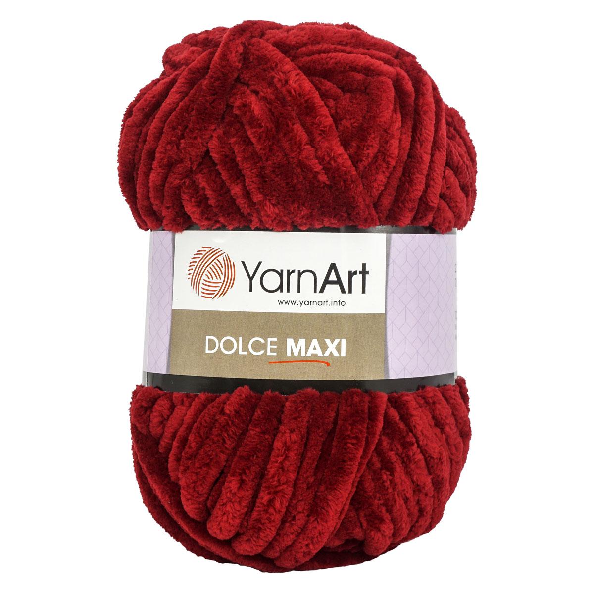 Пряжа YarnArt 'Dolce Maxi' 200г 70м (100% микрополиэстер) (752 бордо) фото