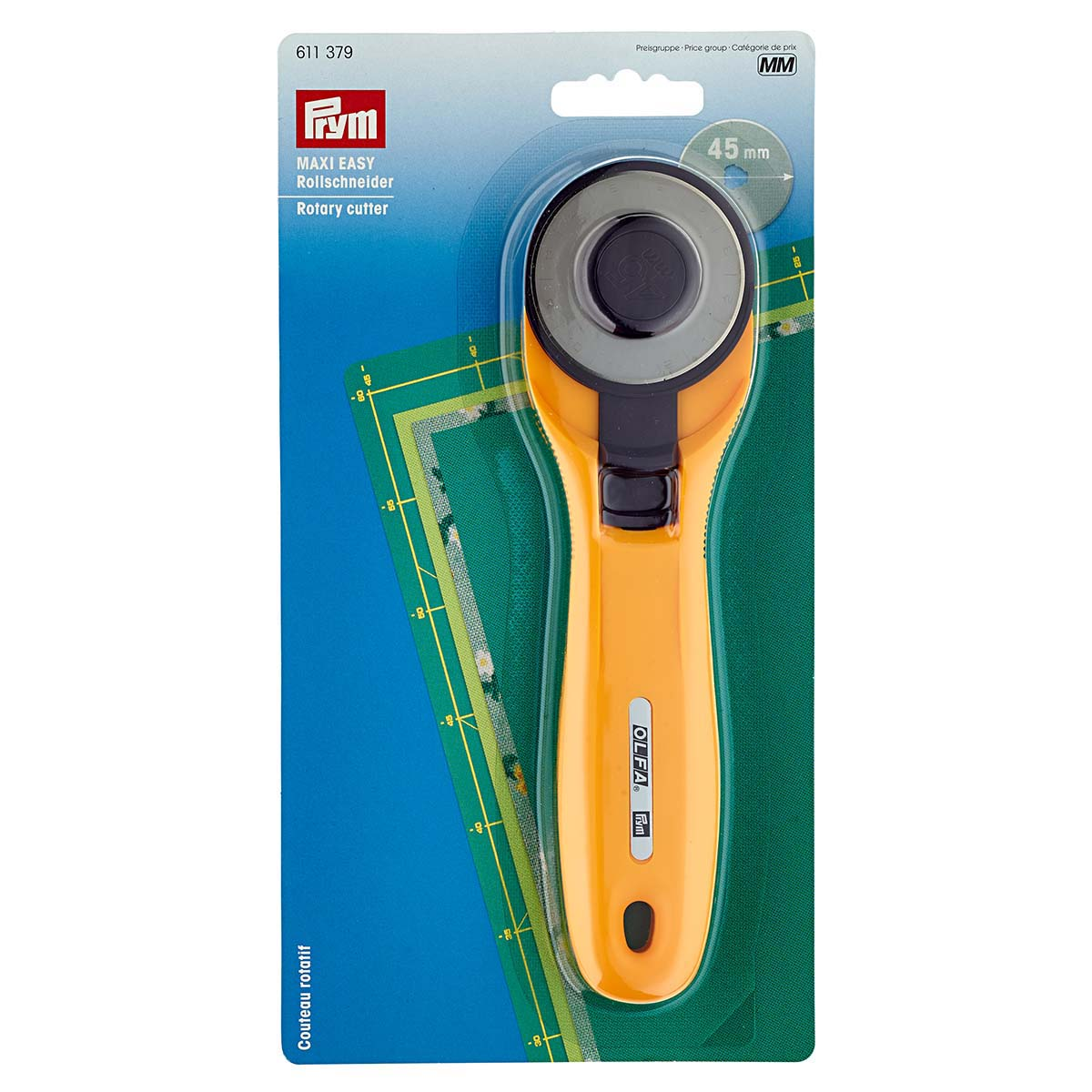 611379 Нож раскройный круглый Maxi EASY d45 Prym