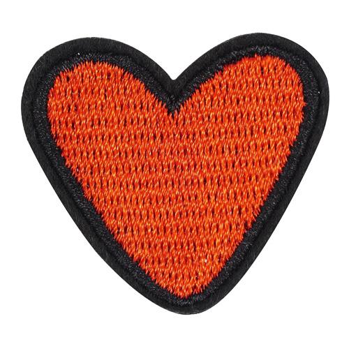 5AS-242 Термоаппликация 'Сердце' 3,5х4см, 3шт/упак