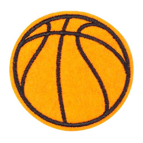 5AS-262 Термоаппликация 'Баскетбольный мяч' 6см, 3шт/упак