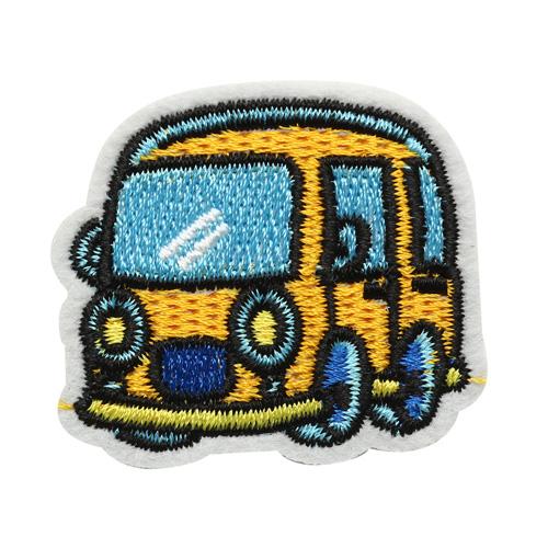 5AS-281 Термоаппликация 'Автобус' 4х4см, 3шт/упак