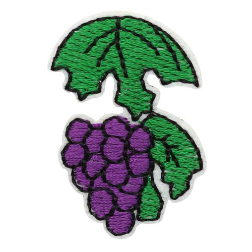 5AS-317 Термоаппликация 'Гроздь винограда' 4х2,5см, 3шт/упак