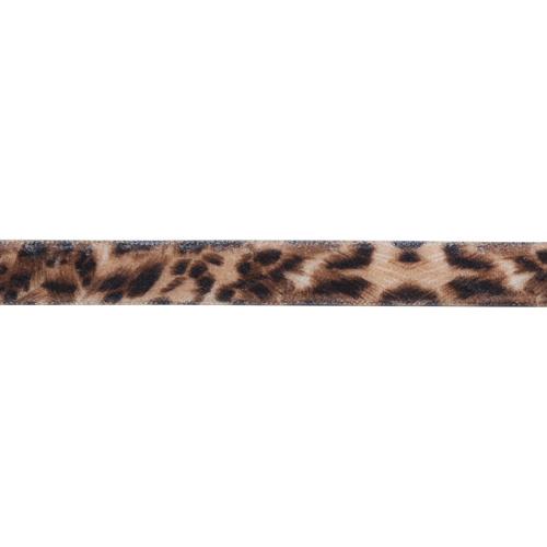1AS-290 Лента бархатная 'Леопардовый принт' 10мм*22,86м