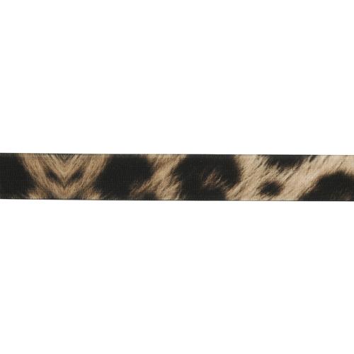 1AS-291 Лента бархатная 'Леопардовый принт' 15мм*22,86м