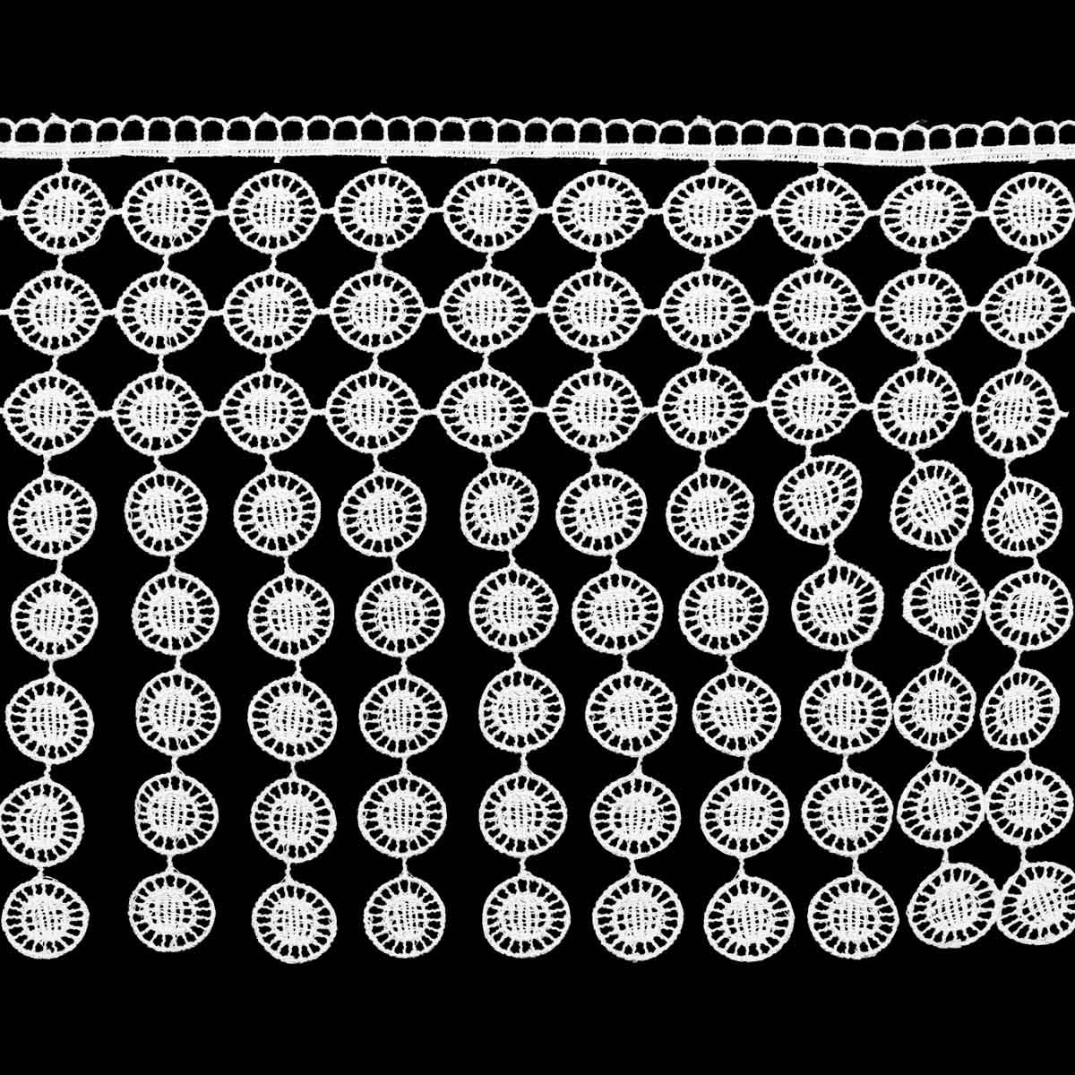 1AS-366 Кружево гипюр с подвесками 20см*13,72м