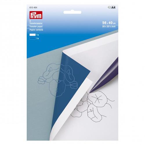 610464 Переводная бумага белый/синий 2шт., Prym